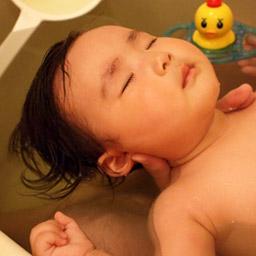 お風呂で寝るはぐ