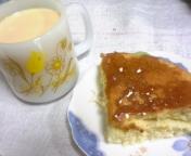 カステラと紅茶。