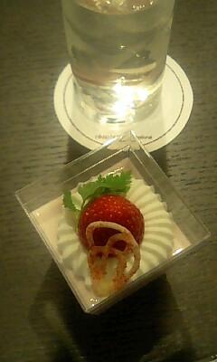 金沢1日目_お祝いケーキ