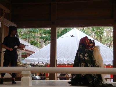 鎌倉宮にて獅子舞_20140103