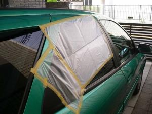ゴミ袋で雨対策orz