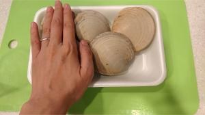 ホンビノス貝のペペロンチーノ1