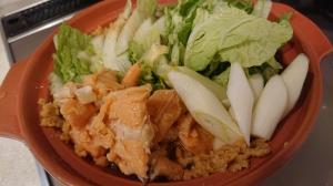 鮭缶味噌鍋1