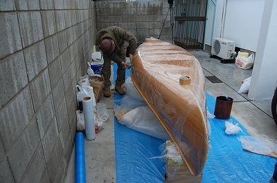 カヌー制作開始