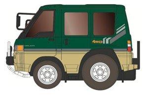 チョロQ zero Z-07f デリカ4WD (緑/ベージュ)