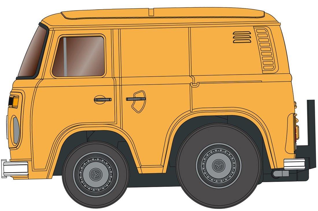 チョロQ zero Z-33a VWデリバリーバン (橙)