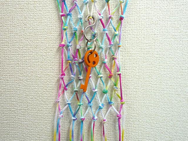 tie dye key hanger