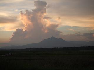 夕立雲が立ち上がる