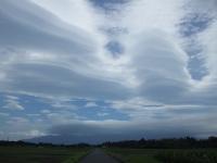 鹿屋の上空で不思議な雲を見ました