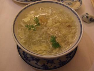 Delicious Fish's bladder and Crab Meat soup