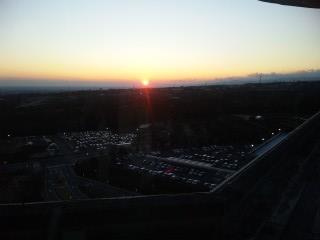 駿河湾へ沈む夕日