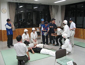 医療救護訓練リハーサル