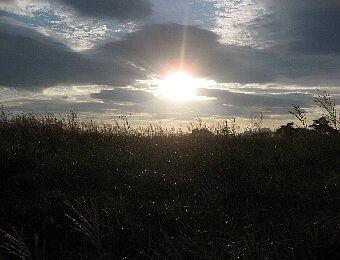 高ボッチ高原の日の出
