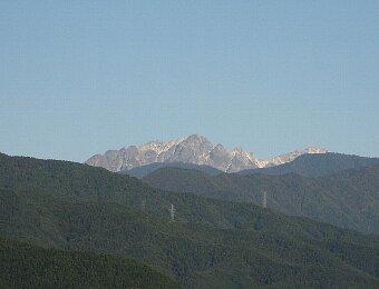 北アルプス初冠雪09