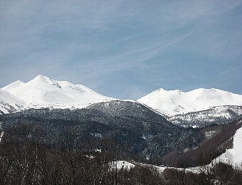 乗鞍の雪景色
