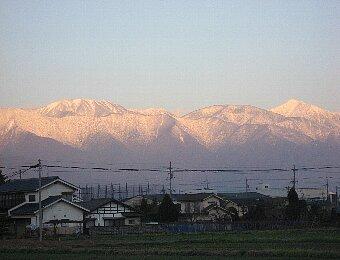 初冬の北アルプス