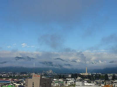 初秋の上田市の朝
