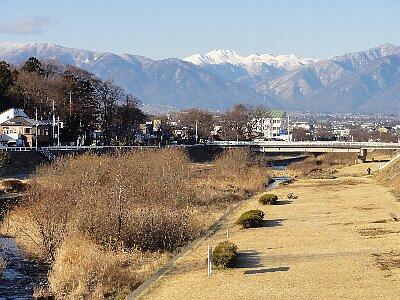 新春の薄川