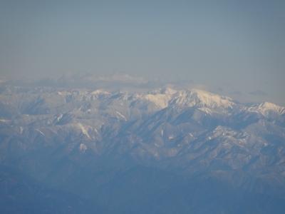 飛行機から見た中央アルプス