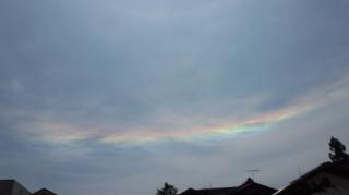 虹色の雲?