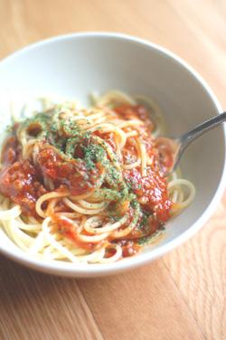 ミートソースのスパゲティ