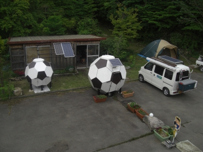 サッカーボールハウス