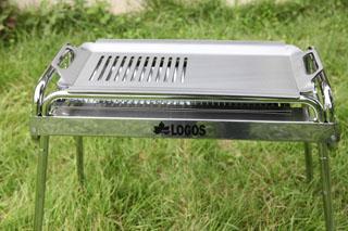 特注 ロゴス・イージーチューブラル+Lサイズ用半鉄板半グリル