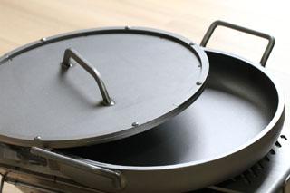 鉄鍋 9?厚 φ350 スーパーブラスト仕様
