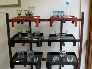 膳棚のガラス