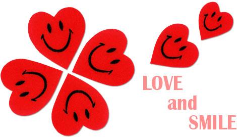 ハートワッペン LOVE&SMILE(ラブ&スマイル)