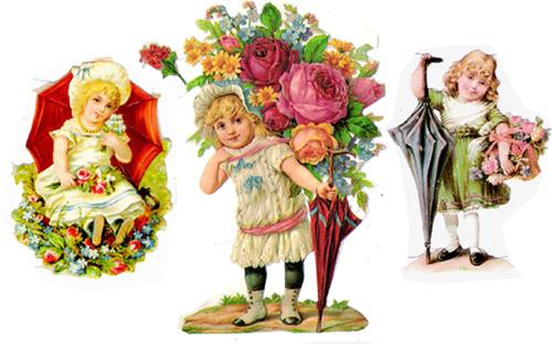 ドイツ製クロモス(Chromos)傘と子供たち
