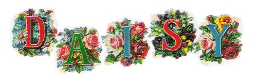 数字とお花のクロモス(chromos)ドイツ製