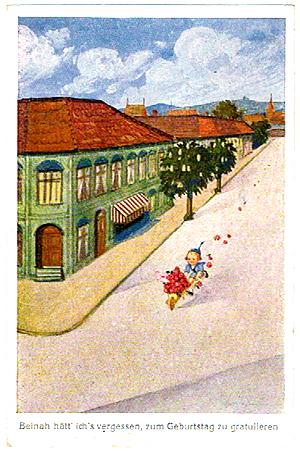 ヨーロッパのポストカード