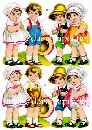 クロモス【ドイツ製】民族衣装の男の子と女の子
