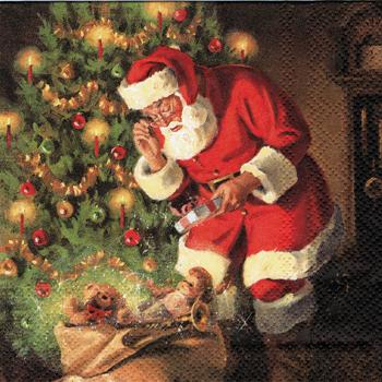 ばら売り1枚 ペーパーナプキン HOME FASHION【ドイツ製】クリスマス、サンタ、サンタクロース、おもちゃ、クリスマスツリー