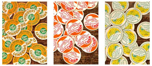 Vintage ミルクキャップ【DAISY】ヴィンテージ、MILK CAPS、ビンテージ、アメリカ、コラージュ、スクラップブッキング、アンティーク