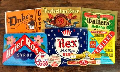 Vintage U.S.A.ラベルセット Vol.1【DAISY】ミルクキャップ、ドリンクラベル、シロップラベル、シガーバンド、アメリカビンテージ、ヴィンテージ、アンティーク