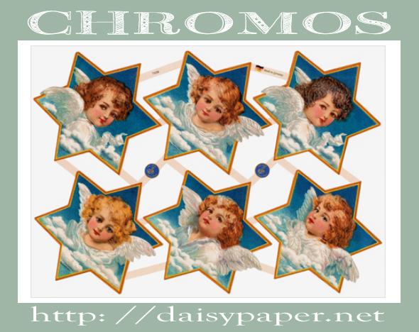 クロモス【DAISY】CHROMOS、chromos、Germany、グランツビルダー、ドイツ製、天使、エンジェル、クロモス通販、星、ダイカット