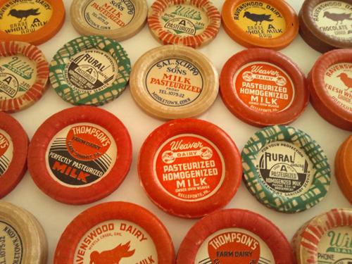 ヴィンテージ ミルクキャップ【U.S.A.】vintage アメリカ アンティーク ミルクボトルキャップ DAISY