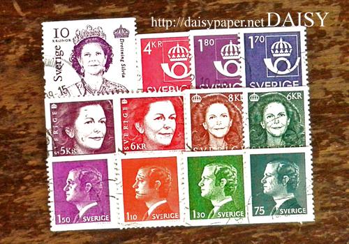 スウェーデン切手、Sweden、ビンテージ、古切手、ヴィンテージ、Vintage、アンティーク、スウェーデン王室、スウェーデン王妃、スウェーデン王家、スウェーデン郵政、ホルン、王冠