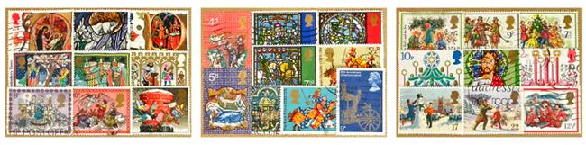 イギリス クリスマス 古切手【DAISY】England、Christmas、Xmas、ビンテージ、ヴィンテージ、天使、クリスマスツリー