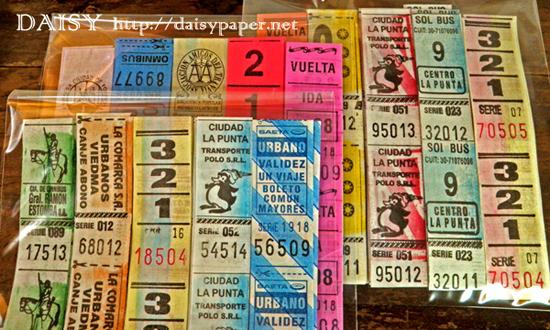 アルゼンチン バスチケット【DAISY】ヴィンテージ、ビンテージ、Vintage、Argentina、切符、アルゼンチン共和国、バスチケットロール、紙もの、味紙、コラージュ