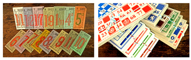 イギリス Vintage バスチケット&ロトカード【DAISY】ヴィンテージ、アンティーク、ラベル、リメイク、ラッピング、コラージュ、スクラップブッキング、ロンドン、英国、England、LOTO、切符