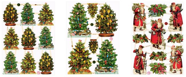 ドイツ製 クロモス【DAISY】CHROMOS、chromos、グランツビルダー、ドイツ、Germany、サンタクロース、クリスマス、Christmas、クリスマスツリー、スクラップピクチャー、デコパージュ