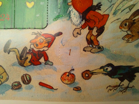 ドイツ製 アドベントカレンダー【Made in Germany】Advent calendar、フリッツ・バウムガルテン、クリスマスカレンダー、クリスマス、天使、妖精