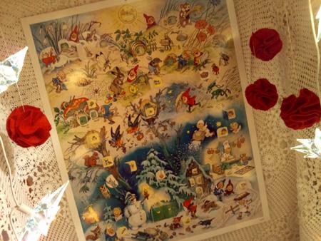 ドイツ、アドベントカレンダー、Advent calendar、フリッツ・バウムガルテン、クリスマスカレンダー、クリスマス、天使、妖精、Germany