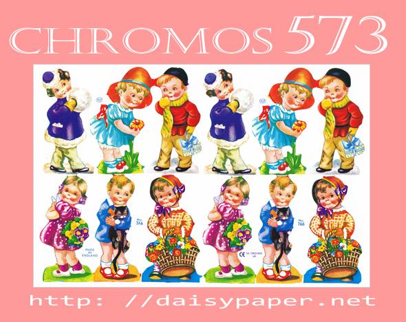 クロモス 573【DAISY】CHROMOS、chromos、England、グランツビルダー、イギリス製、子供、レトロ、コラージュ、スクラップブッキング、デコパージュ