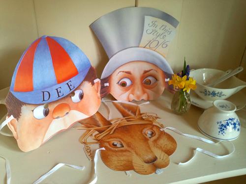 不思議の国のアリス、イギリス製パーティーマスク、England、Alice in Wonderland、ジョン・テニエル、ルイス・キャロル