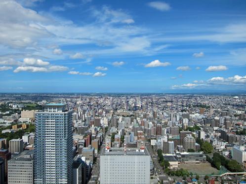 札幌JRタワーより北方を望む.jpg