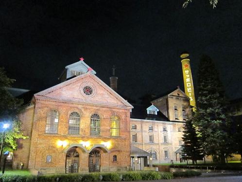 サッポロビール博物館夜景麦.jpg